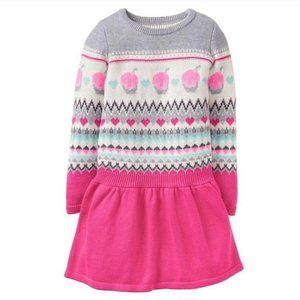 Gymboree Cupcake Fair Isle Sweater Dress